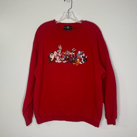 Vtg Warner Bro's Looney Tunes Gang Sweatshirt